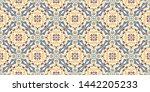 bandana print. women's shawl... | Shutterstock .eps vector #1442205233