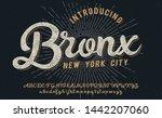 bronx. new york city print.... | Shutterstock .eps vector #1442207060