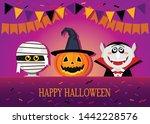 congratulatory banner or... | Shutterstock .eps vector #1442228576