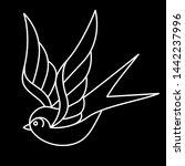 vector old school style tattoo... | Shutterstock .eps vector #1442237996