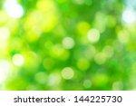 Green Bokeh From Tree