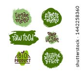 eco product flat hand drawn... | Shutterstock .eps vector #1442258360