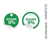 green labels and stickers with... | Shutterstock .eps vector #144227173