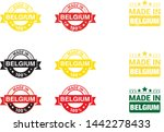 made in belgium  collection of... | Shutterstock .eps vector #1442278433