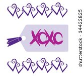 love and kisses tag with xoxo... | Shutterstock .eps vector #14422825