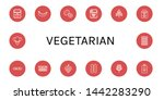 set of vegetarian icons such as ... | Shutterstock .eps vector #1442283290