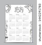 calendar 2023 vector template ... | Shutterstock .eps vector #1442291783