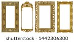 set of panoramic golden frame... | Shutterstock . vector #1442306300