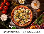 traditional portuguese pizza... | Shutterstock . vector #1442326166