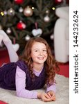cute happy smiling little girl... | Shutterstock . vector #144232624