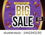 big sale design for business... | Shutterstock .eps vector #1442342150