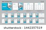 set desk calendar 2020 template ... | Shutterstock .eps vector #1442357519
