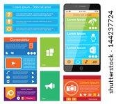 flat web design  elements ... | Shutterstock .eps vector #144237724