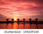 bangpakong watergate  the...   Shutterstock . vector #144239140