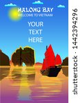 halong bay. a beautiful natural ... | Shutterstock .eps vector #1442394296