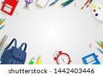 welcome back to school. school... | Shutterstock .eps vector #1442403446