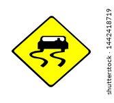 sign be carefull for car  sign... | Shutterstock .eps vector #1442418719