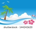 sea wave background | Shutterstock .eps vector #144242620