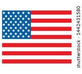 united states of america flag | Shutterstock .eps vector #1442431580