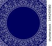 porcelain style frame | Shutterstock . vector #144243580