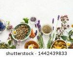 Various kinds of herbal tea....