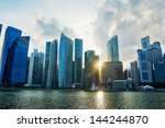 singapore downtown at colorful... | Shutterstock . vector #144244870