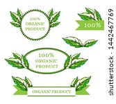 organic product labels... | Shutterstock .eps vector #1442467769
