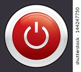 power button. vector red round...