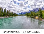Bow River In Canmore With The...