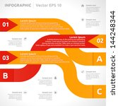 infographic template   color  ... | Shutterstock .eps vector #144248344