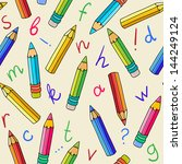 Seamless Pattern With Pencils...