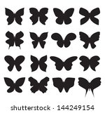 butterfly collection | Shutterstock . vector #144249154