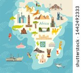 africa continent  world map... | Shutterstock . vector #1442492333