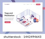 landing page template of yoga... | Shutterstock .eps vector #1442494643