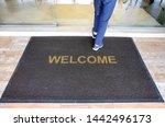 A welcome mat at the entrance...