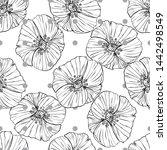 flower popies graphic design.... | Shutterstock .eps vector #1442498549