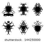 ornate shield badge design | Shutterstock . vector #144250000