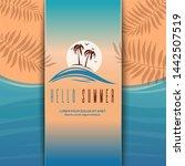 beautiful beach background... | Shutterstock .eps vector #1442507519
