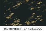 percent sings on dark...   Shutterstock .eps vector #1442511020