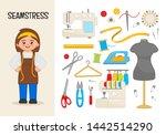 vector character seamstress.... | Shutterstock .eps vector #1442514290