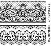 decorative vintage lace... | Shutterstock .eps vector #1442546996