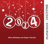 happy new year | Shutterstock .eps vector #144255988