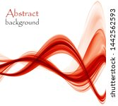 bright red abstract waves on a...   Shutterstock . vector #1442562593
