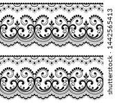 victorian lace seamless design  ... | Shutterstock .eps vector #1442565413