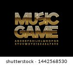 vector chic emblem music game... | Shutterstock .eps vector #1442568530