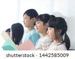 primary school students who...   Shutterstock . vector #1442585009