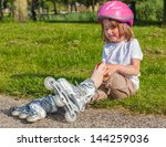girl with helmet on but without ...   Shutterstock . vector #144259036