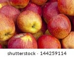 Red Ripe And Yellow Apple...
