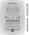 typography  calligraphic design ... | Shutterstock .eps vector #144261250