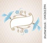 vector background with banner ... | Shutterstock .eps vector #144261394